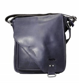 Arrigo CLICK IT TWICE- Dark blue shoulder bag-leather bag- nice leather bag- Arrigo 026
