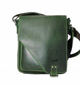 Arrigo CLICK IT TWICE- Groene schoudertas- leren tas- mooie tas- luxe tas-arrigo-026