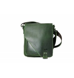 Arrigo CLICK IT TWICE- Green shoulderbag-leather bag green-nice bag- Arrigo bag 026