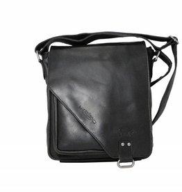 Arrigo CLICK IT TWICE- Zwarte schoudertas- leren tas- mooie tas- luxe tas-arrigo-026