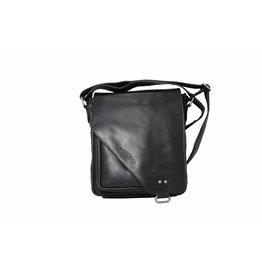 Arrigo CLICK IT TWICE- black shoulder bag- leather bag-nice leather bag- Arrigo 026 black