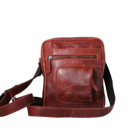 Arrigo Genuine leather shoulder bag red