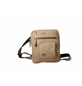 Arrigo Genuine leather shoulder bag taupe