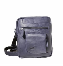 Arrigo Genuine leather shoulder bag dark blue