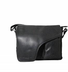 Arrigo Leather shoulder bag black
