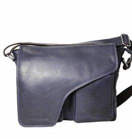 Arrigo Leather shoulder bag dark blue