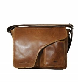 Arrigo Leather shoulder bag natural