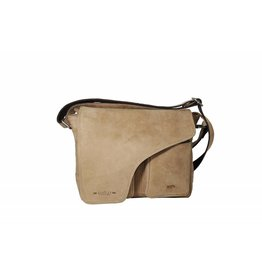 Arrigo Leather shoulder bag taupe