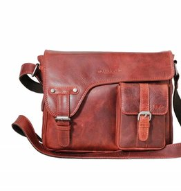 Arrigo shoulder bag red, leather bag- nice leatherbag- luxe beg-arrigo-3174