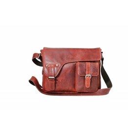 Arrigo shoulder bag red, leather bag- nice leatherbag- luxe beg-arrigo-3174