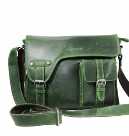 Arrigo shoulder bag green, leather bag- nice leatherbag- luxe beg-arrigo-3174