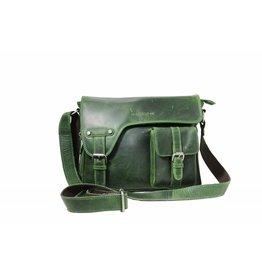 Arrigo shoulder bag green, leather bag- nice leatherbag- luxe beg-arrigo-3174