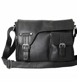 Arrigo shoulder bag black, leather bag- nice leatherbag- luxe beg-arrigo-3174