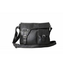 Arrigo shoulder bag black, leather bag- nice leatherbag- luxe beg-arrigo-3174