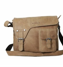 Arrigo shoulder bag taupe, leather bag- nice leatherbag- luxe beg-arrigo-3174