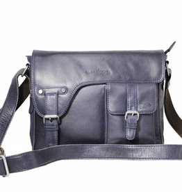 Arrigo shoulder bag dark blauw, leather bag- nice leatherbag- luxe beg-arrigo-3174