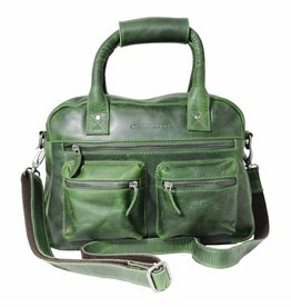 Arrigo Arrigo cowboysbag green leather bag- nice leatherbag- luxe beg-arrigo-66045
