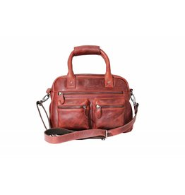 Arrigo Arrigo cowboysbag red leather bag- nice leatherbag- luxe beg-arrigo-66045