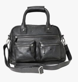 Arrigo Arrigo cowboysbag black leather bag- nice leatherbag- luxe beg-arrigo-66045