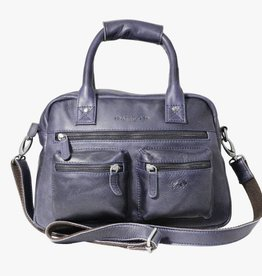 Arrigo Arrigo cowboysbag dark blue leather bag- nice leatherbag- luxe beg-arrigo-66045