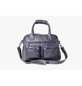 Arrigo Arrigo cowboysbag dark blue leather bag- nice leatherbag- luxe beg-arrigo-66045
