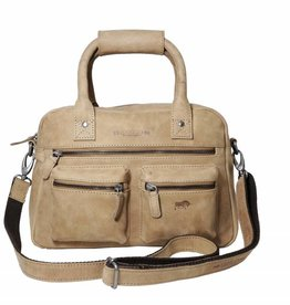 Arrigo Arrigo cowboysbag taupe leather bag- nice leather bag- luxe beg-arrigo-66045