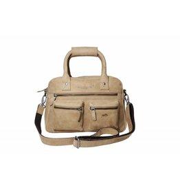 Arrigo Arrigo cowboysbag taupe leather bag- nice leather bag- luxe beg-arrigo-66045