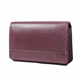 Arrigo Wrap purse harmonica bordeaux red