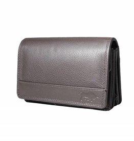 Arrigo Overslagportemonnee harmonica donker bruin