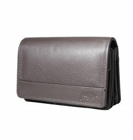 Arrigo Wrap purse harmonica dark brown