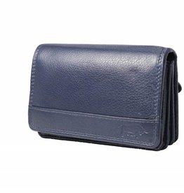 Arrigo Overslagportemonnee harmonica Marine blauw