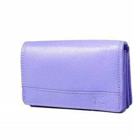 Arrigo Overslagportemonnee harmonica violet