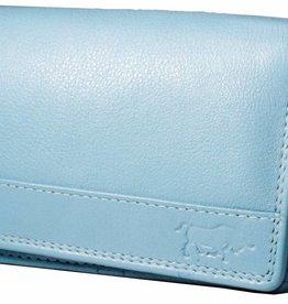 Arrigo Overslagportemonnee harmonica baby blauw