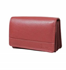 Arrigo Overslagportemonnee harmonica donker rood