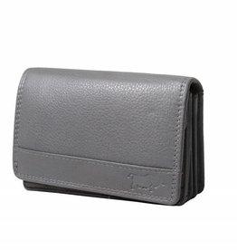 Arrigo Dames portemonnee klein met klep grijs