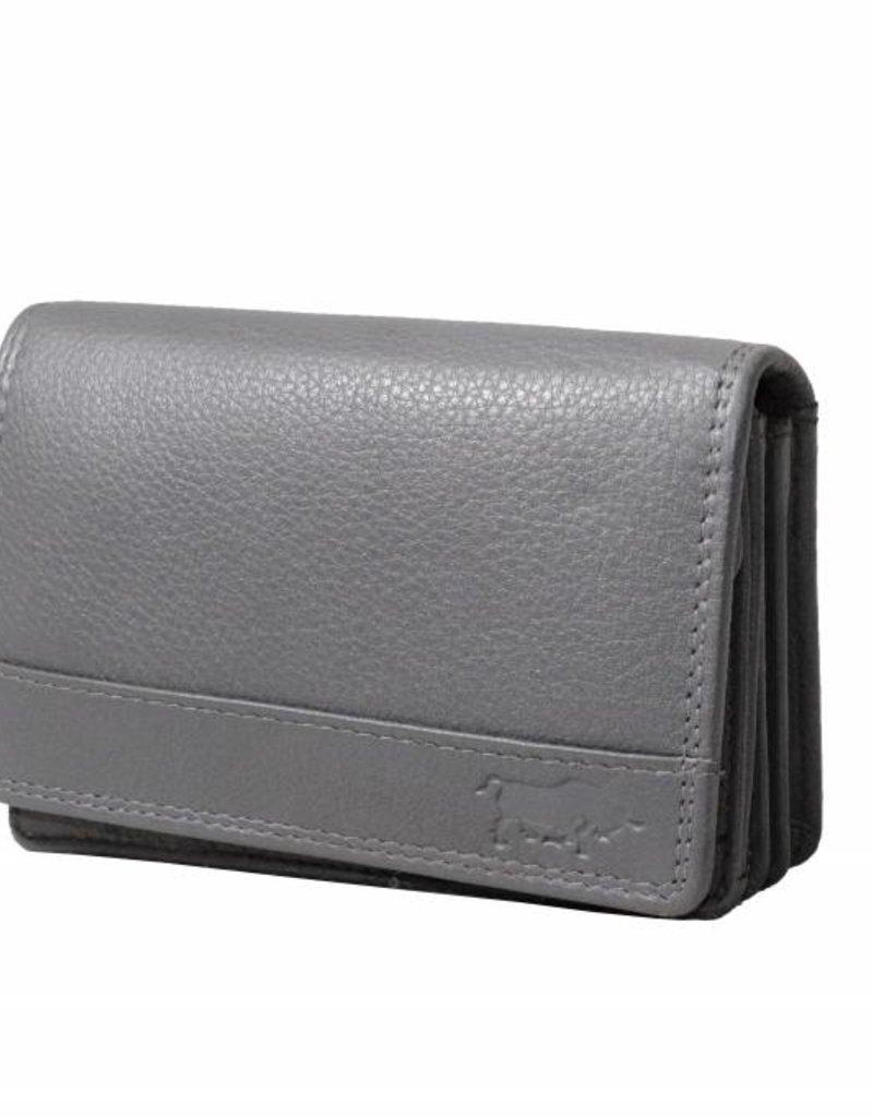 Dames Portemonnee Hema.Ladies Wallet Smale With Klep Gray Arrigo Leather Goods