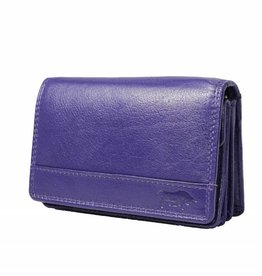 Arrigo Ladies wallet smale with klep aubergine