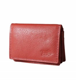 Arrigo Small leather wallet Ferrari red