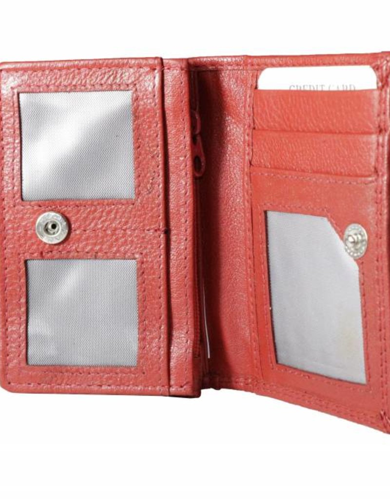 Arrigo Ferrari red small harmonica wallet- small ladies and men's wallet