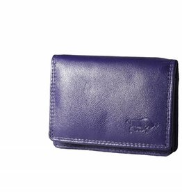 Arrigo Small leather wallet Eggplant