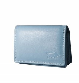 Arrigo Small leather wallet Baby blue
