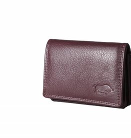 Arrigo Small leather wallet Bordeaux