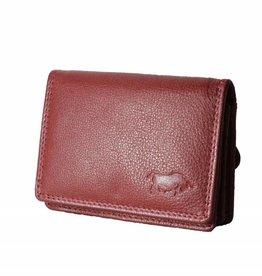 Arrigo Kleine leren portemonnee rood