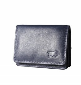 Arrigo Small leather wallet navy blue (dark blue)