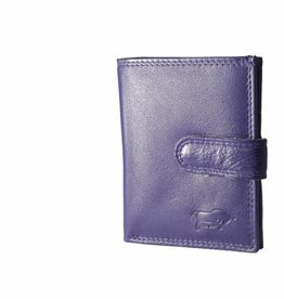 Arrigo Leather card holder eggplant