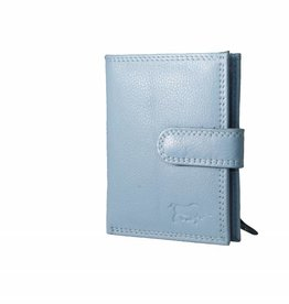 Arrigo Card holder Baby blue leather