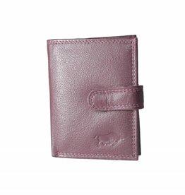 Arrigo Card holder Bordeaux red leather
