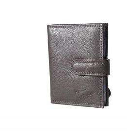 Arrigo Dark brown card holder leather