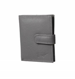 Arrigo Credit card holder gray leather arrigo