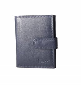 Arrigo Pass holder blue navy leather
